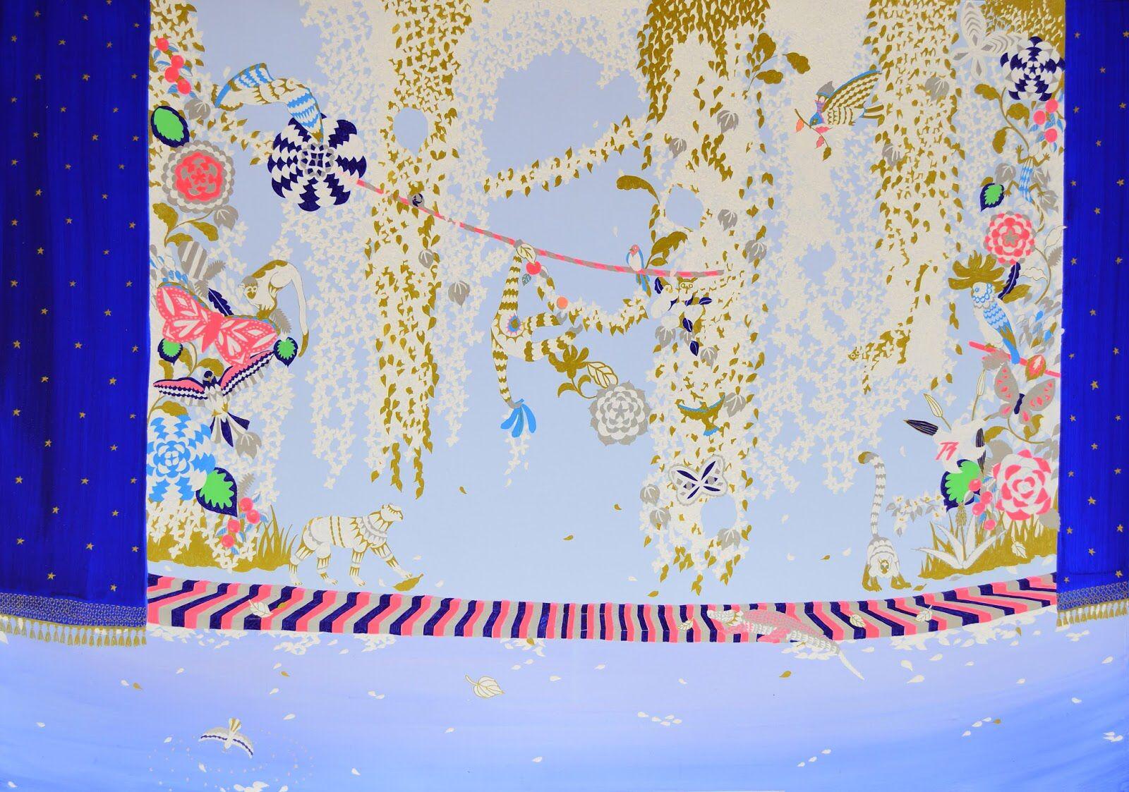Jungle(2012) 72.8×103cm/HarukoMori