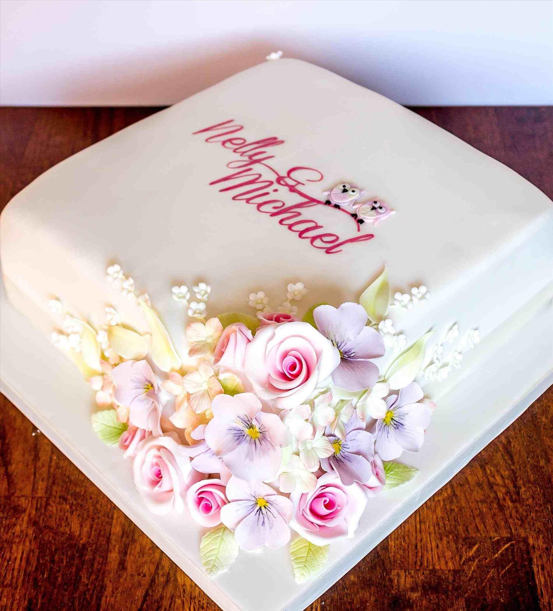 Simple one layer wedding cake weddings pinterest boda and tartas
