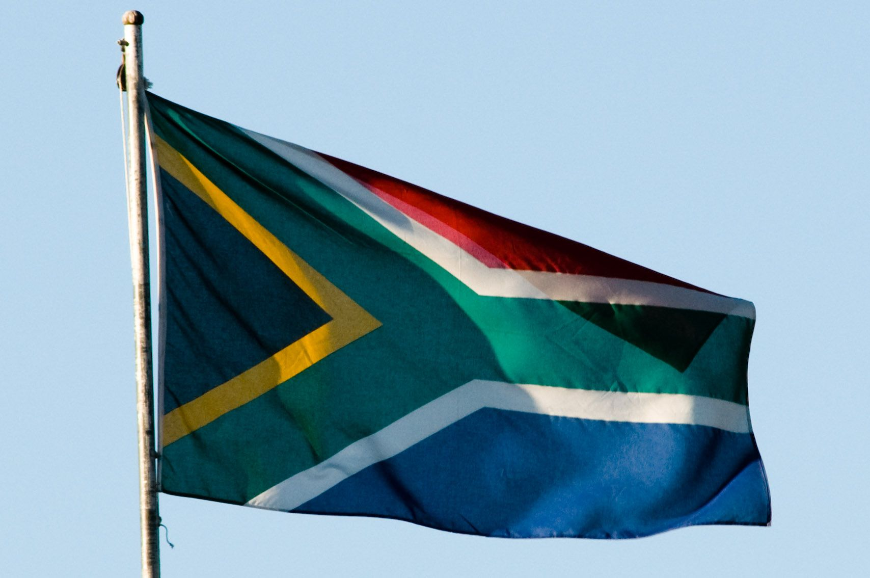 The Flag Of South Africa 1994 Includes Green Yellow And Black The Colors Of The African National Congress South African Flag Africa Africa Flag