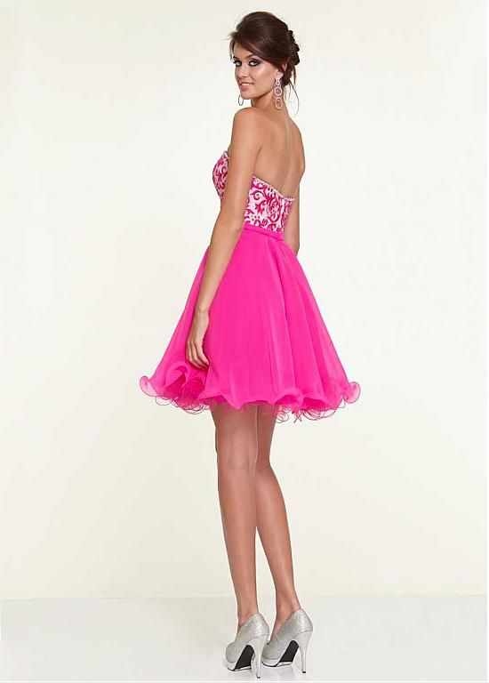 Chic Chiffon & Tulle Sweetheart Neckline Knee-length A-line ...
