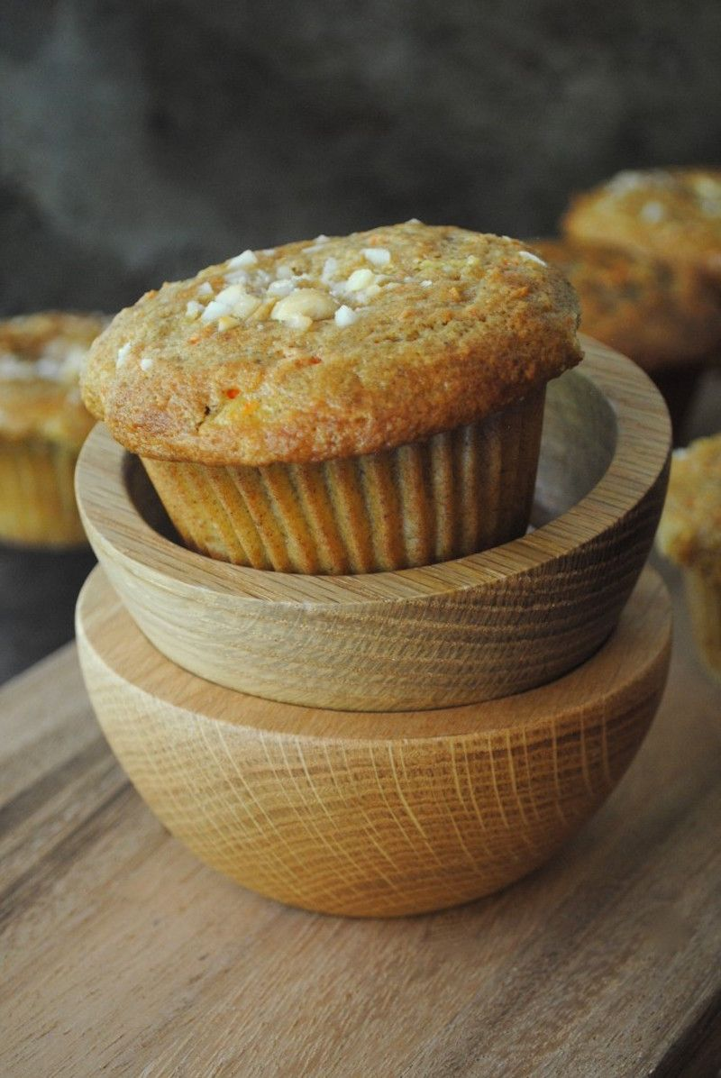 Healthy Carrot Cake Muffins With Pineapple