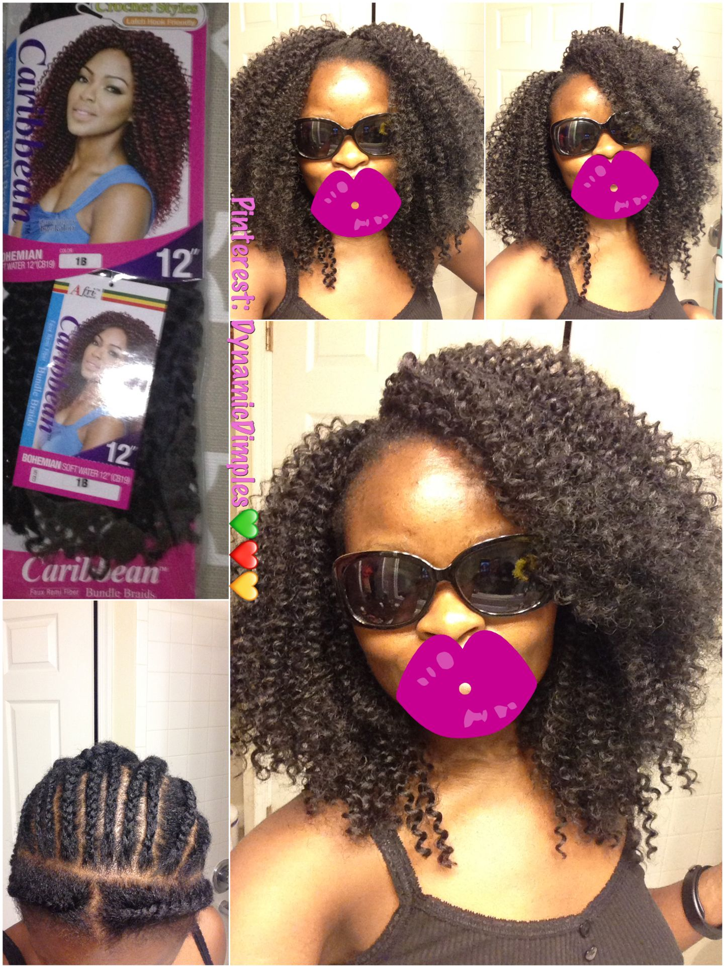 Caribbean Bundle Bohemian Soft Water 12 Inches Crochet Braids With