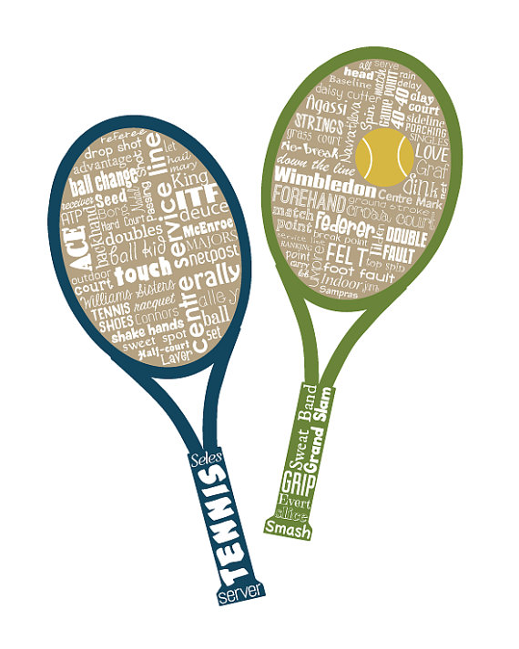 54bb637be919 Tennis   Word Art Typography   Home Decor   Unique Coach Gift   Sports    Ball Racquet Serve Ace   Wi