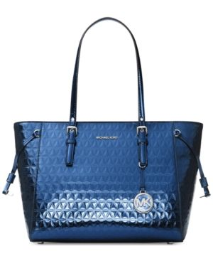 0a8863f865ee Michael Michael Kors Voyager Specchio Multi-Function Top Zip Medium Tote -  Blue