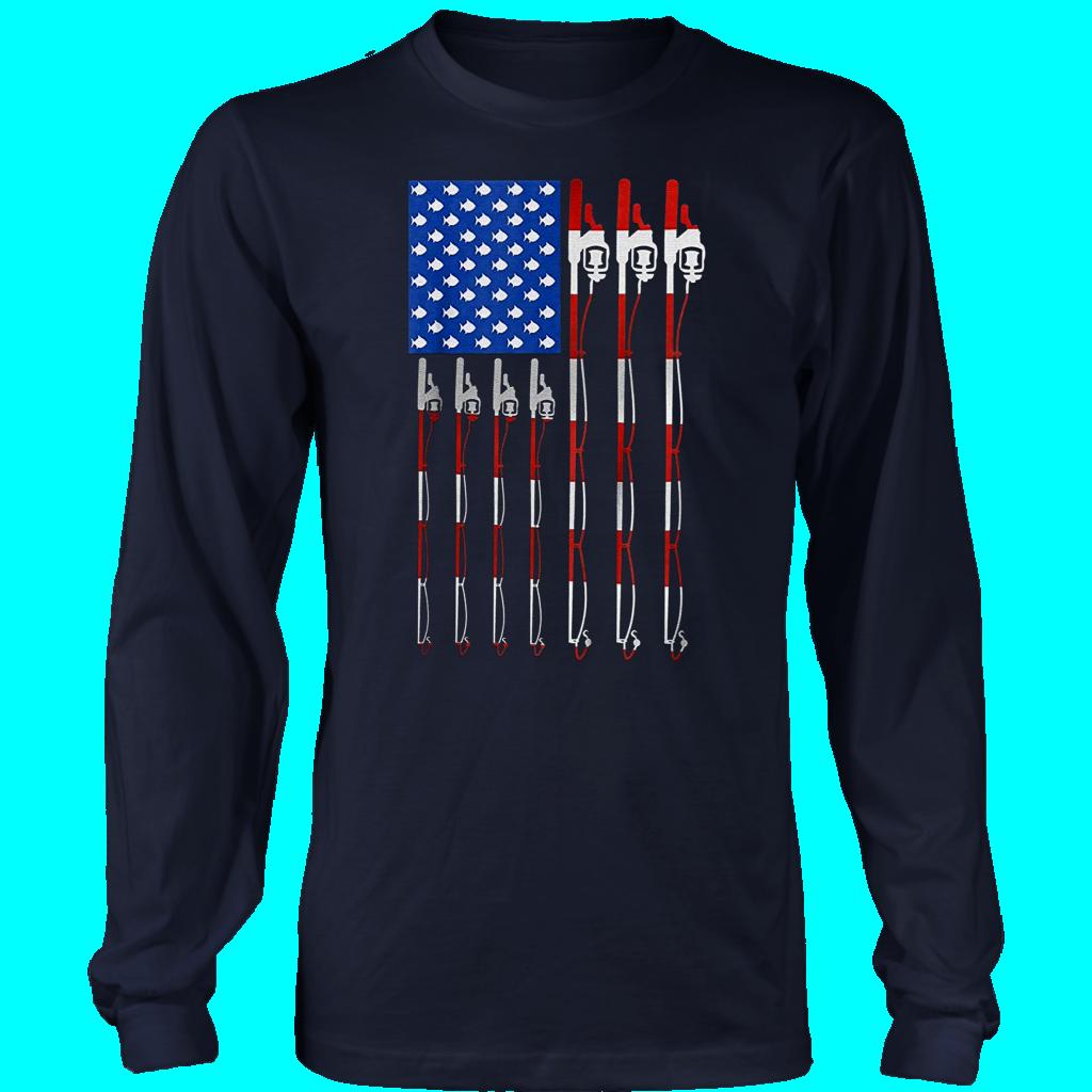 Download Pro Patriotic Fishing T-Shirt American USA Flag Fishing ...