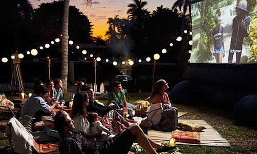 Backyard Movie Night Ideas 16 awesome sweet sixteen party ideas for girls Movie Night Under The Stars Rent One Of Our Outdoor Movie Screens And Take The Party Outdoors