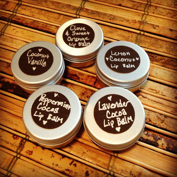 Five Lip Balm Tins /// Variety Sampler /// Cocoa by UrthTones, $20.50