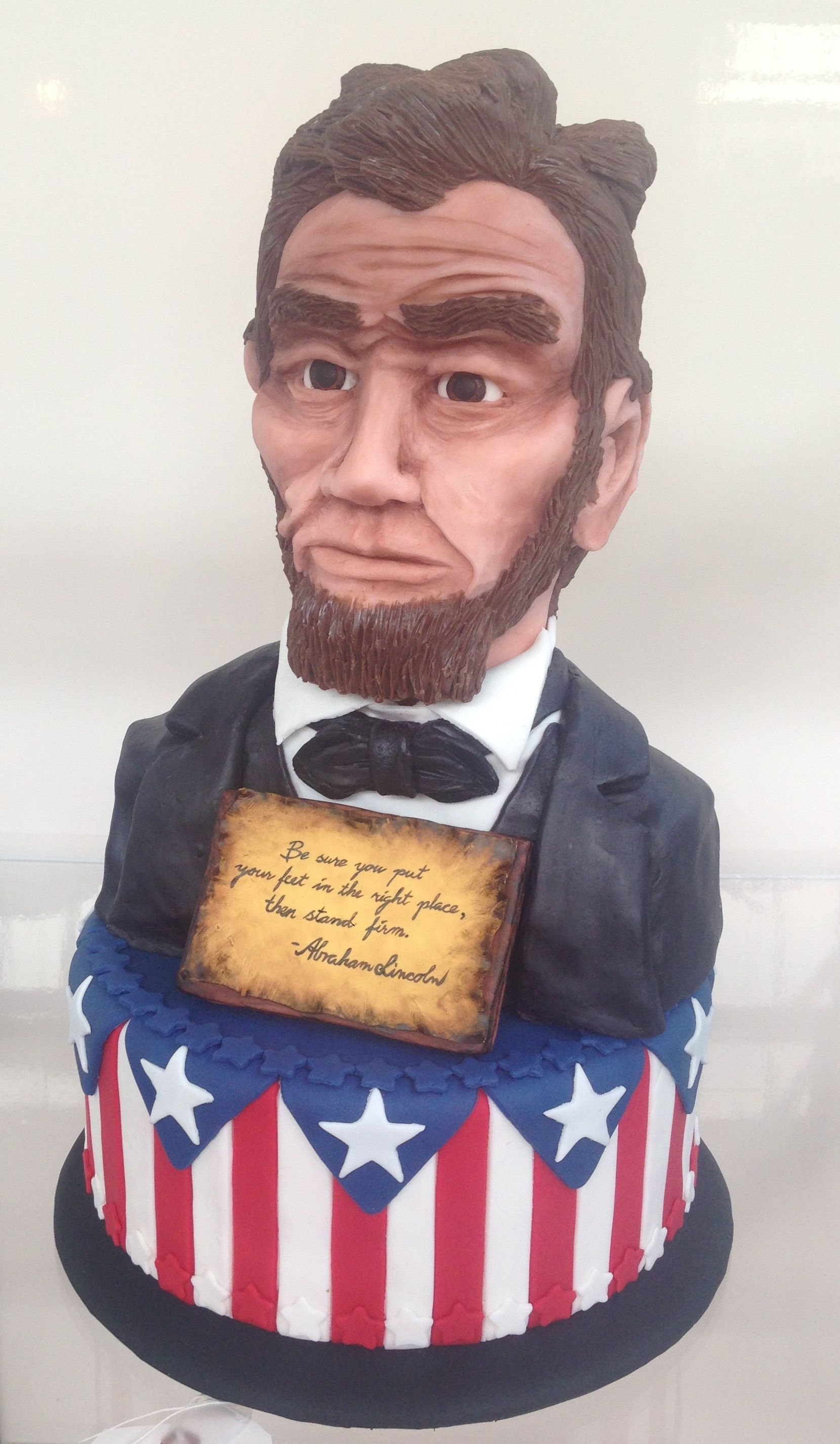 Abraham Lincoln The Modeling Chocolate Man