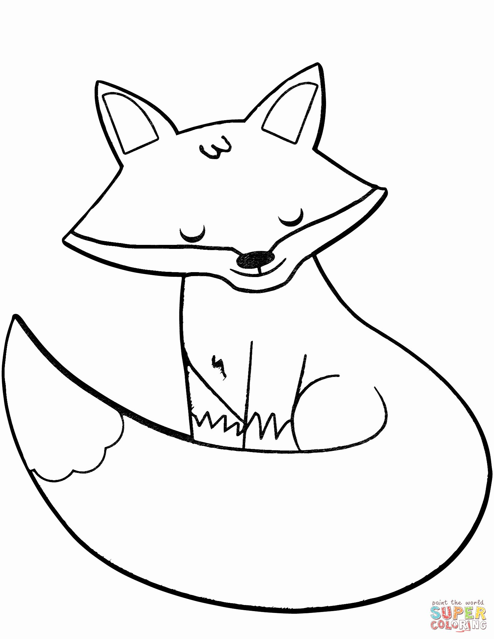 Fox Coloring Pages For Kids In 2020 Owl Coloring Pages Fox