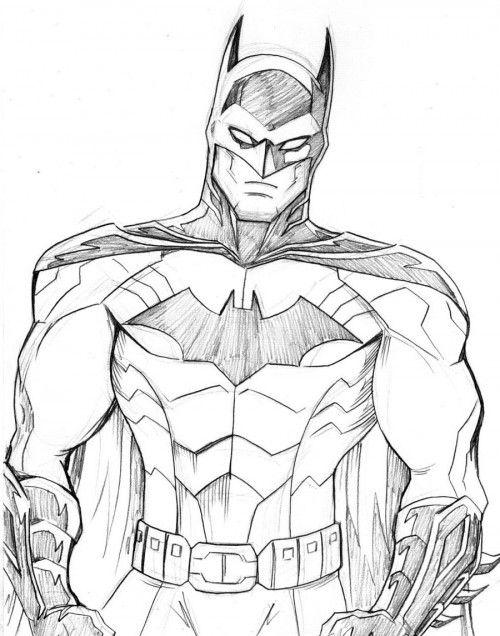 Batman Was Looking Fore Coloring Page Batman Drawing Batman Artwork Batman Cartoon