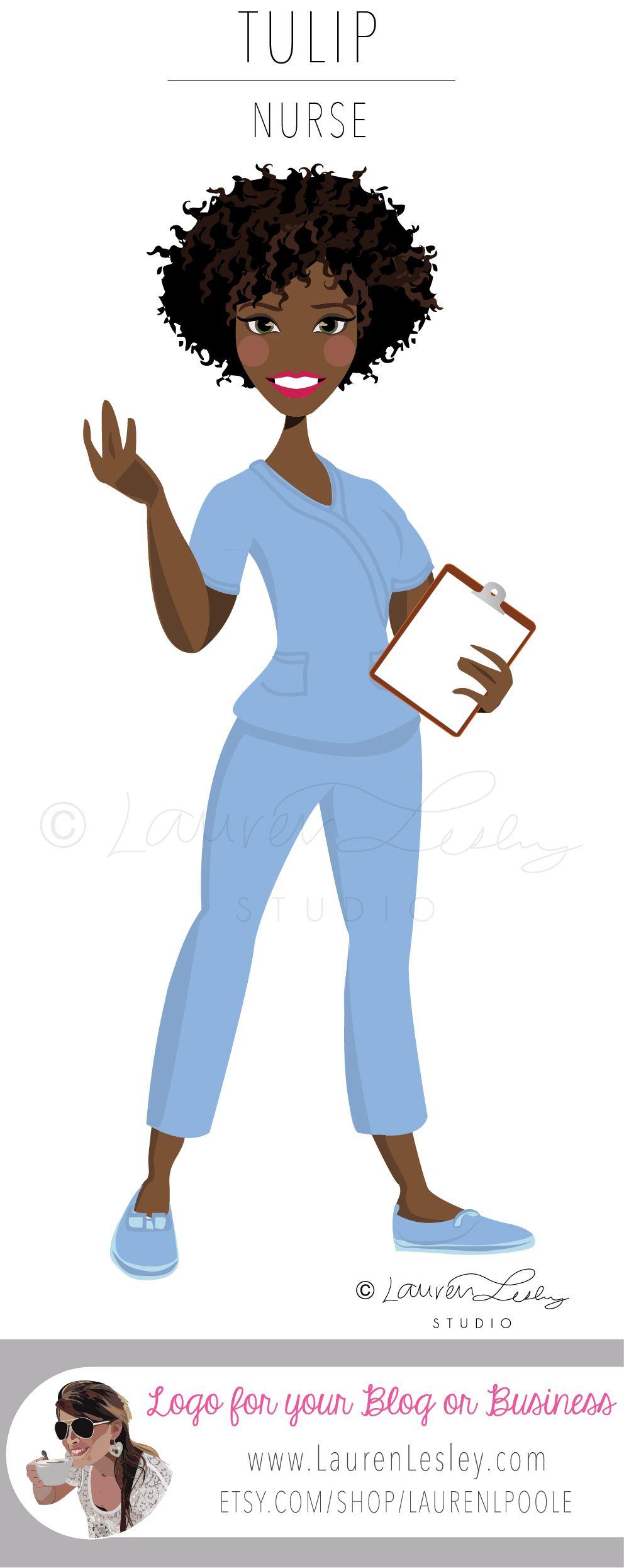 Athlete Clip Art Logo Design Illustration Graphic Avatar Web Etsy In 2021 Nurse Clip Art Clip Art Nurse