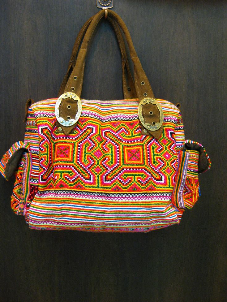 Thai Hmong Embroidered Hand Made Boho Bag $30.00 at http://www.suredesigntshirts.com