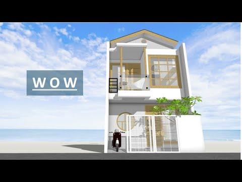 NICE SMALL MODERN HOUSE DESIGN 4x5 METERS 2 BEDROOMS