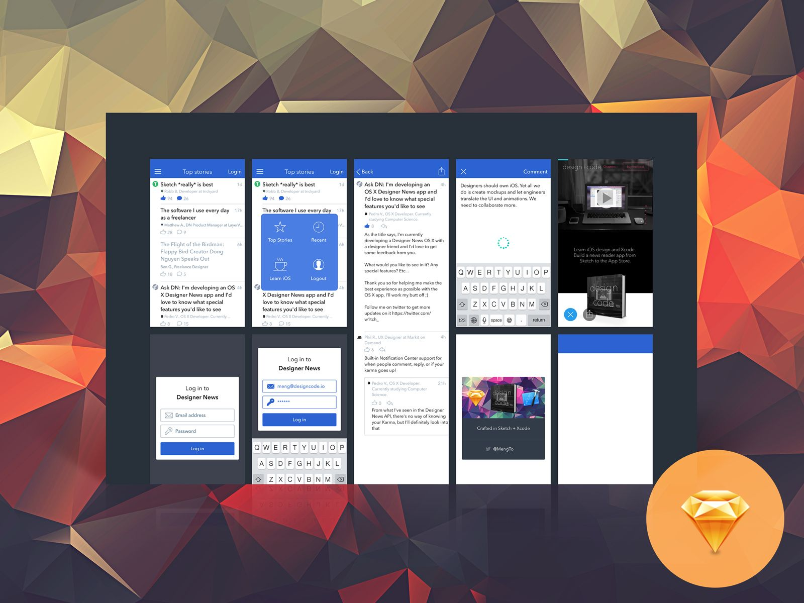 over 16000 designers learned designcode build a swift app using sketch and xcode