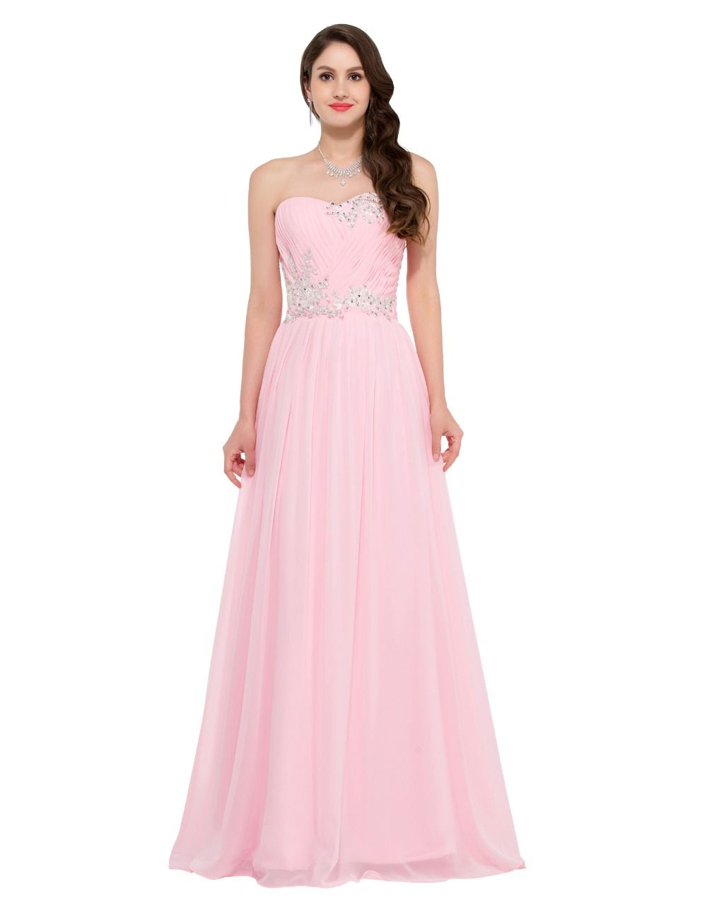 Fast Delivery Long Bridesmaid Dresses Grace Karin Beading Sequins ...