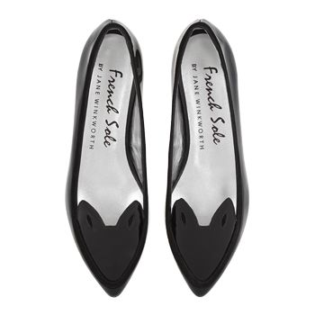 e5e11985c8a1b Obsessed with these Penelope Black Patent French Sole shoes. An edgy take  on the bog standard ballet flat with Parisian chic and style! J'adore!