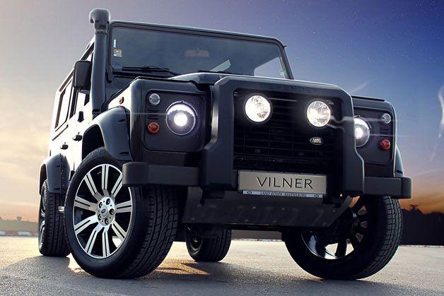 Vilner Land Rover Defender with Wood Paneling