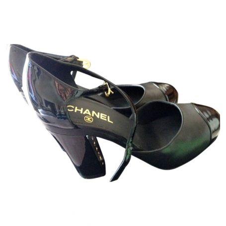 Chaussures CHANEL Noir taille 38.5 FR en Cuir Toutes saisons - 375974  http://fr.vestiairecollective.com/chaussures-chanel,34.shtml    vestiaire collective