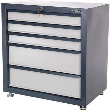 Workpro Work Pro Storage Cabinet With Five Drawers 26 5 8 Wx18 Dx28 H Products In 2019 Tool Storage Cabinets Tool Storage Storage