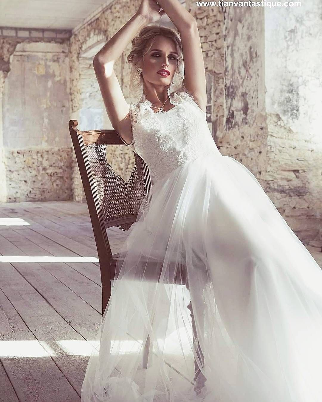 Brautkleid Trend 2018. Romantisches Couture Designer Brautkleid mit ...
