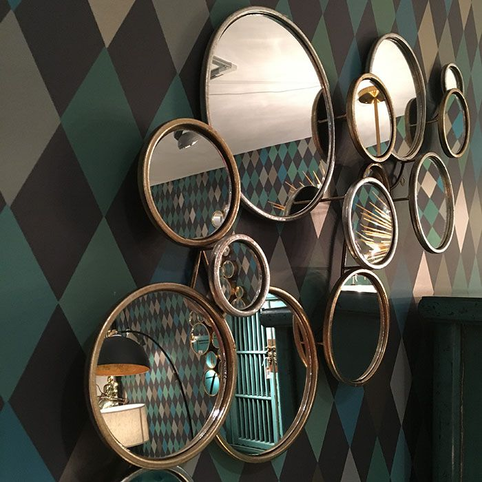 Http Www Exclusivemirrors Co Uk Round Mirrors 15 Round Circles Gold Mirror 108 X 52cm Mirror Gold Mirror Round Mirrors