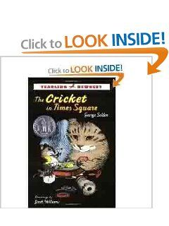 The Cricket in Times Square--our lunch time read aloud #childrensliterature