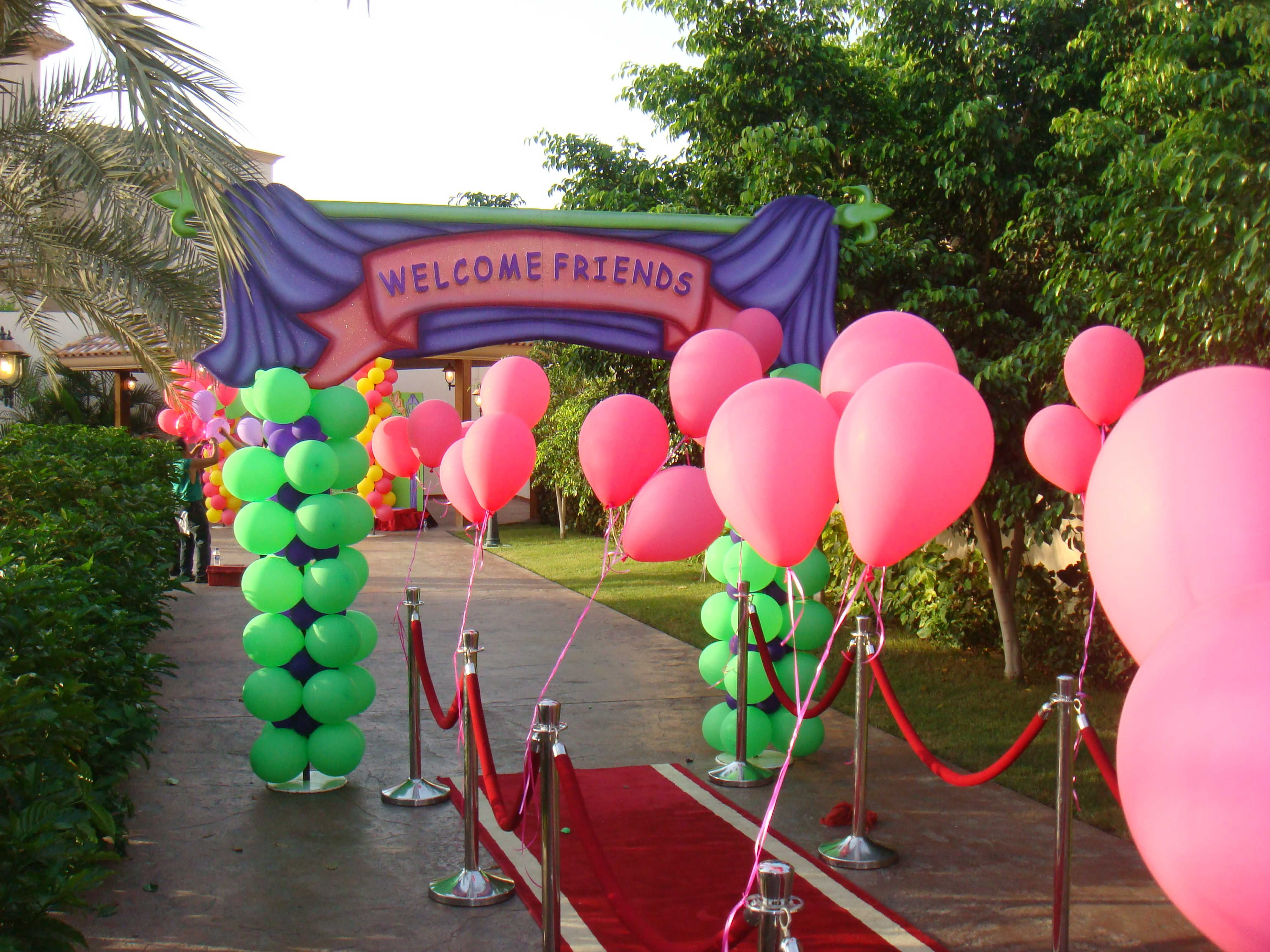 Entrance Balloon Decoration By Fantasyparty Balloon Decorations
