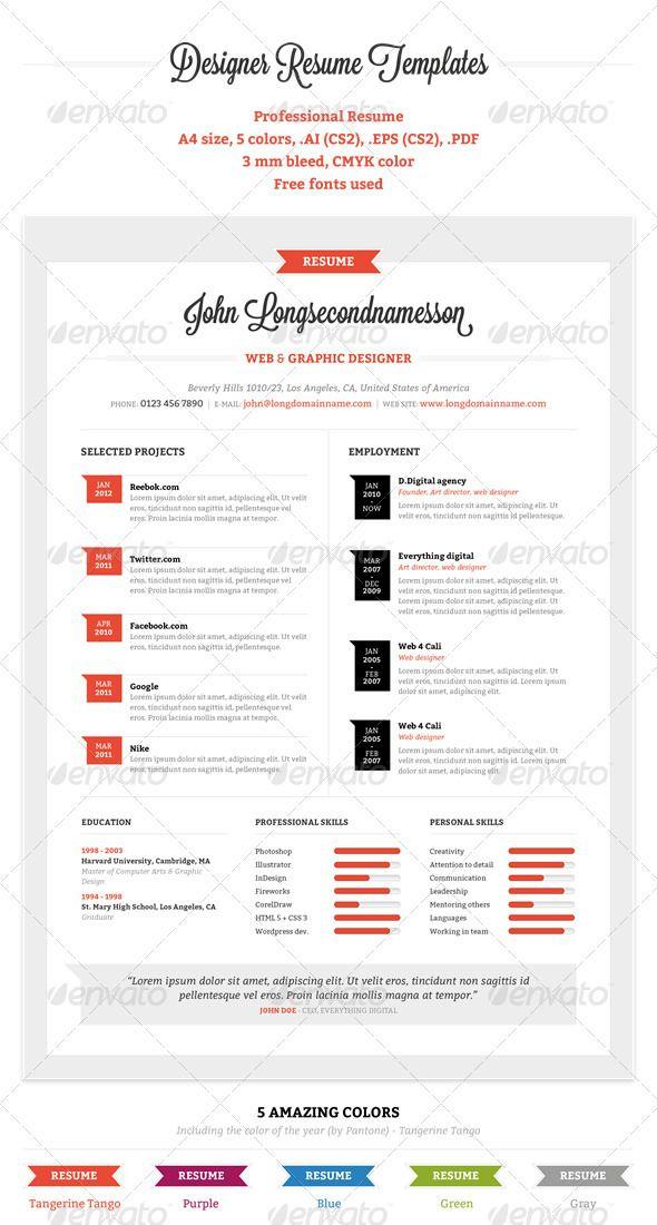Professional Resume Resume Pinterest Professional resume - professional resume layout