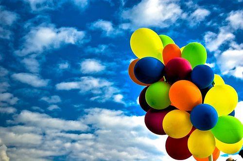 muticolored balloons!