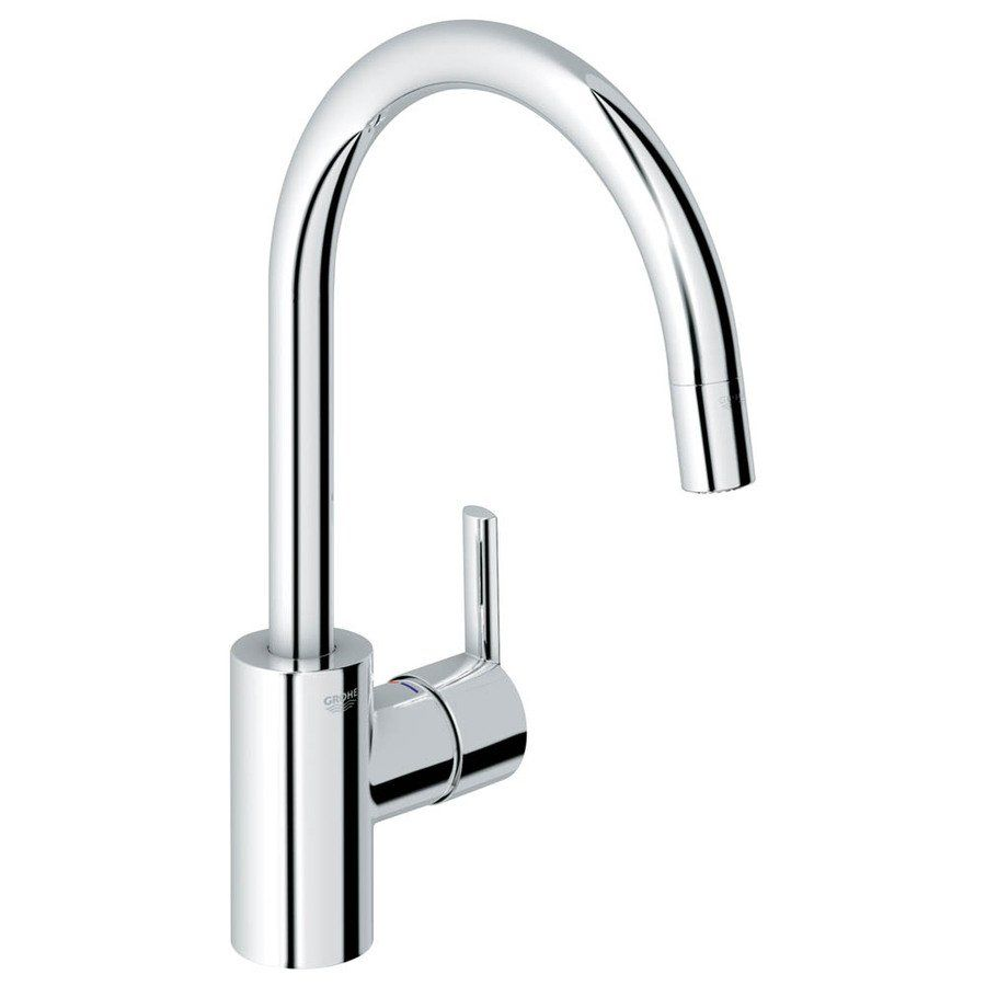 Superbe Grohe Feel Starlight Chrome One Handle Pull Down Kitchen Faucet