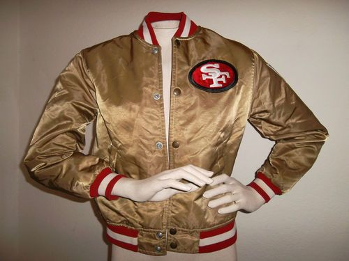 dc5063a25 Vintage 80s NFL Pro Line Starter San Francisco 49ers Gold satin Jacket  Medium
