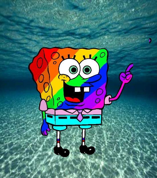 Rainbow Spongebob By Bobthefurby On Deviantart Spongebob