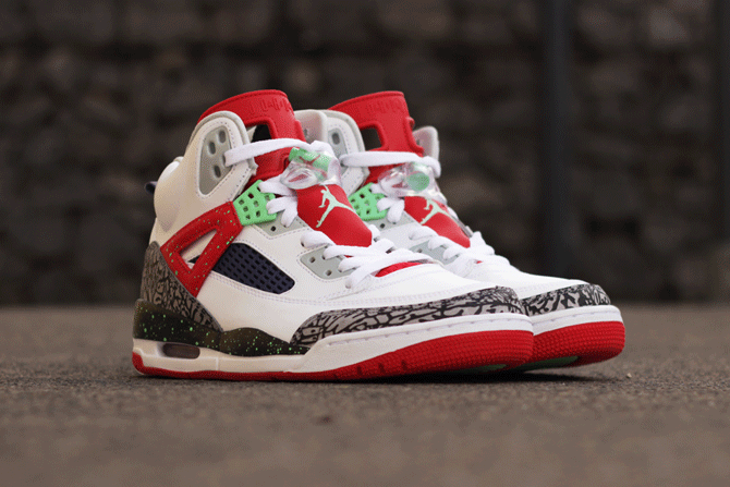 6a5c6a590445 Jordan Spizike White Red Poison Green