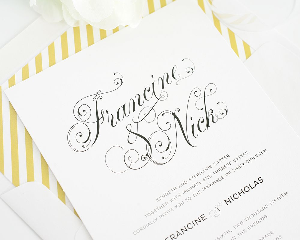 Top 10 Wedding Invitations with Script | Calligraphy fonts ...