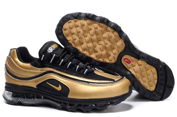 d7b4e0835d88 397252-015 Nike Air Max 24-7 Black Black Metallic Gold AMFM0557 ...