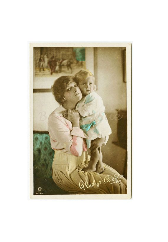 English Actress Gladys Cooper With  Baby Joan by Butterflysue