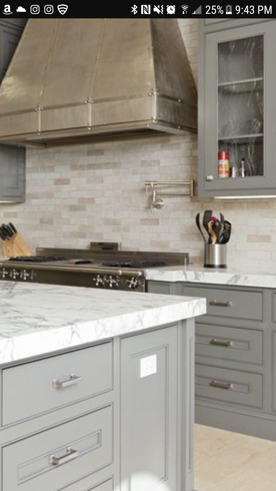 - Light Gray With Travertine Backsplash (With Images) Travertine