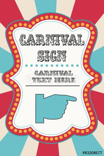 Download the royalty-free vector \ - free carnival sign template