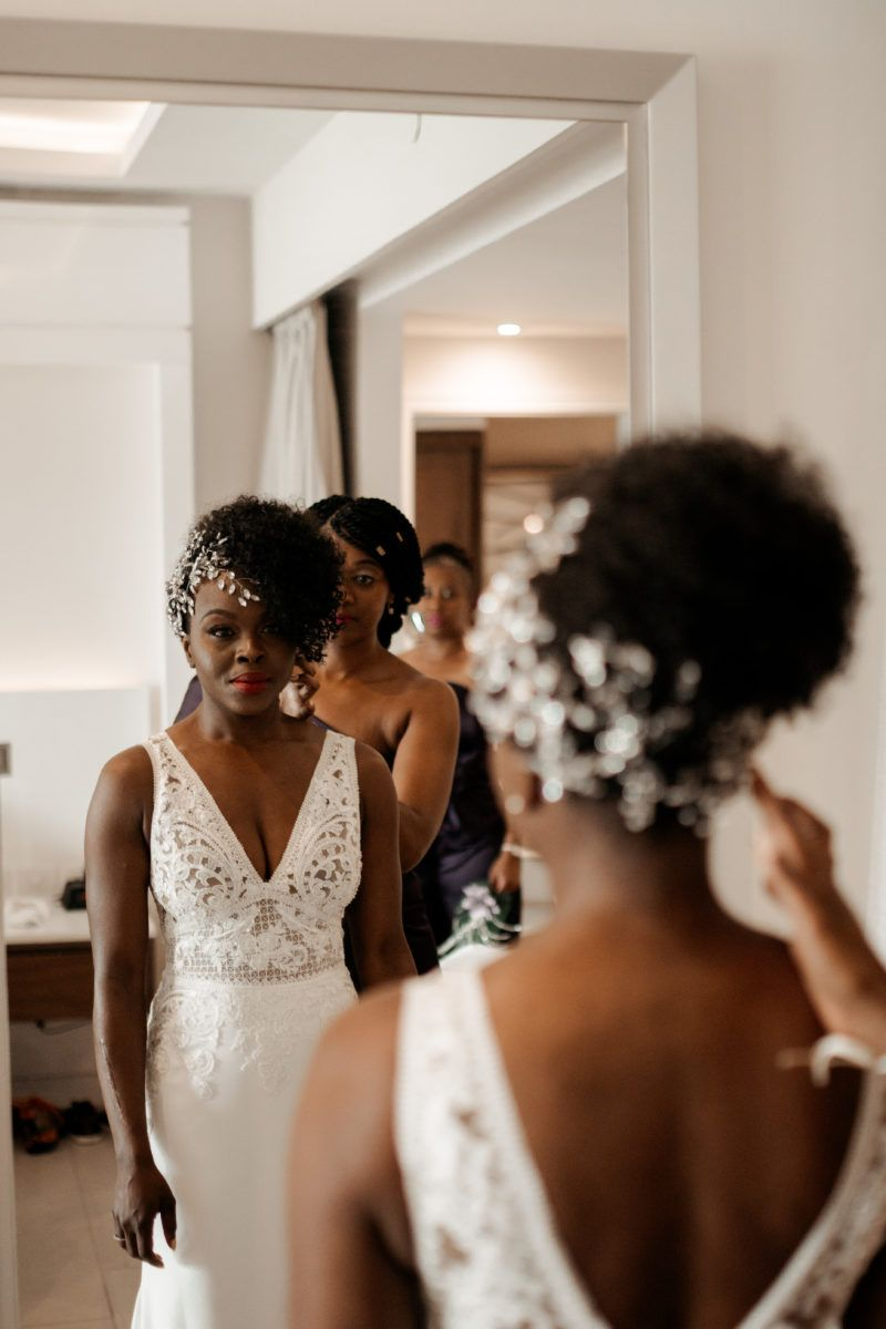 Bridal bliss candice and hassan looked like royalty at