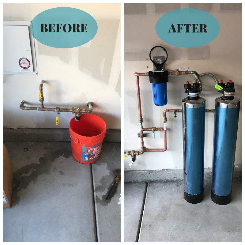 Check Out This Beforeandafter Our Customer Called Us Out Because He Was Not Happy With The Hardness Of His Water Aft Water Softener Plumbing Pure Products