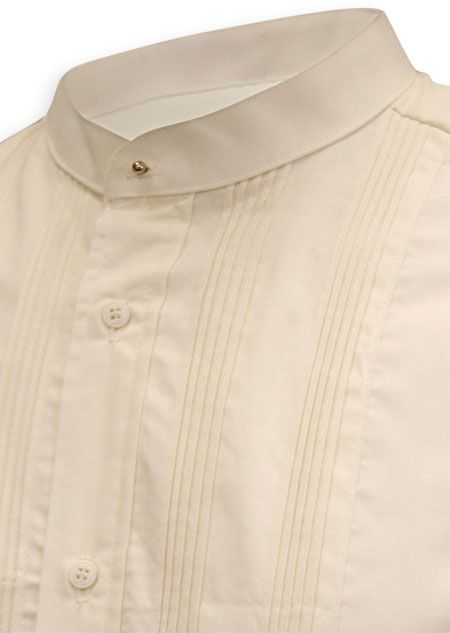 Our Ivory Dress Shirt is Made of soft cotton-poly blend, this spread collar dress shirt is the perfect addition to your staple wardrobe and is long-lasting.