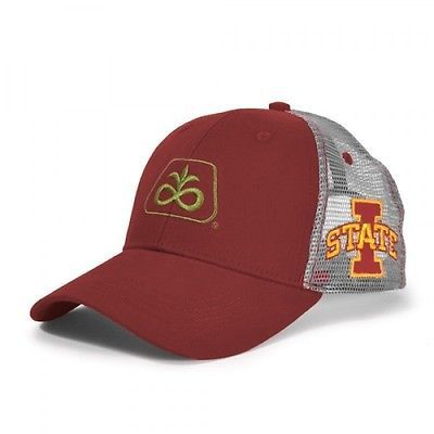 brand new 27104 bbd1f PIONEER SEED  IOWA STATE CYCLONES  Maroon   Gray Mesh  LOGO  HAT  PSC01 in  Clothing, Shoes   Accessories,Men s Accessories,Hats   eBay