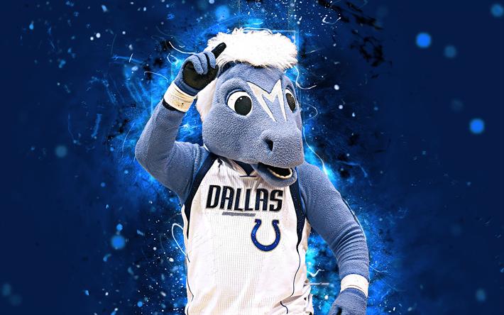 Download wallpapers Champ, 4k, mascot, Dallas Mavericks