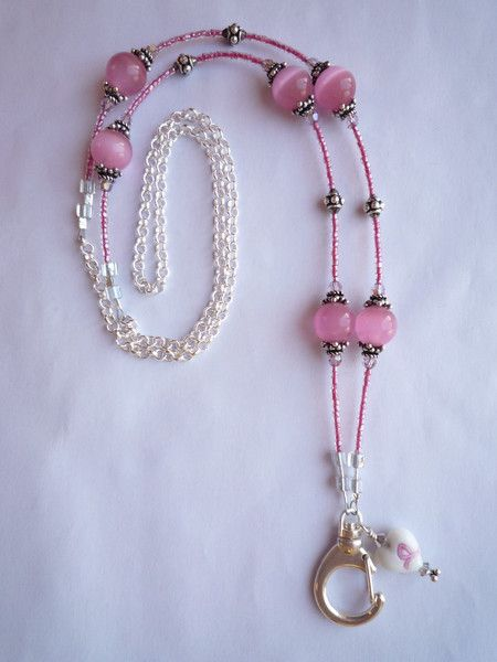 Jewelry badge holder for breast cancer