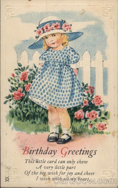 Vintage Birthday Wishes For Sister ~ Birthday greetings this little card can only show a very part of the big wish for joy and