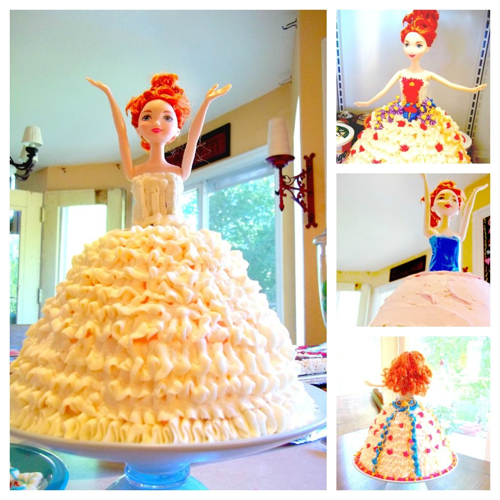 How To Make A Dress Cake Without Special Tin