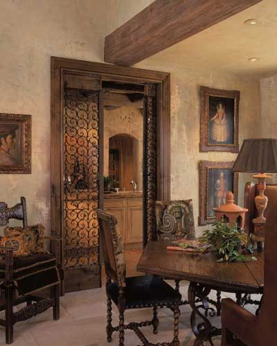 Spanish Style Dining Space Designed By Nancy Anderson Ross, Dallas Design  Group Interiors, In