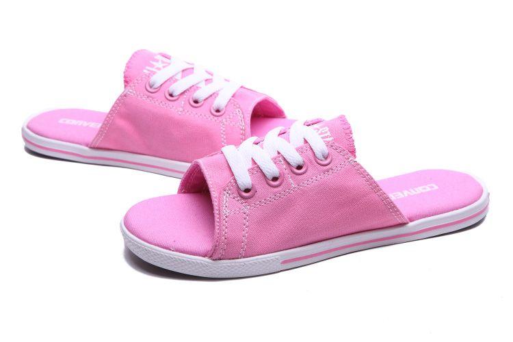 Pink Converse Cutaway EVO Summer Chuck Taylor All Star Women Slippers   converse  shoes a864d0b1e