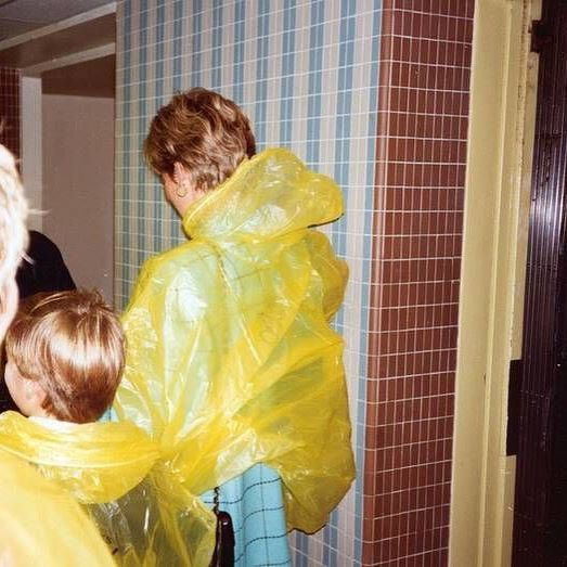 ~ Diana Princess of Wales and Prince William (9 years) waiting for an elevator…