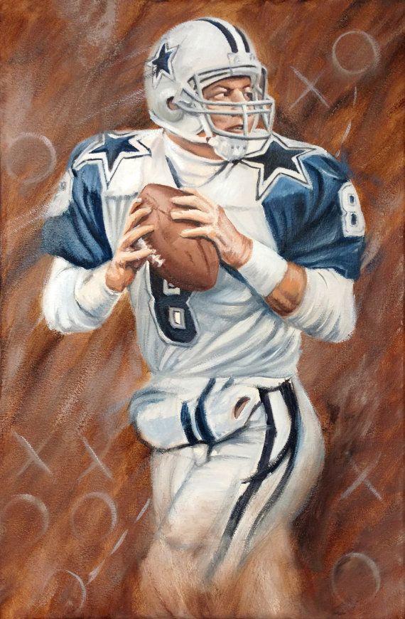 90504456e02 Troy Aikman Painting Football Art, Football Helmets, Troy Aikman, Nfl  History, Iron
